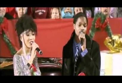 Judith Hill and Landau Eugene Murphy at the Hollywood Christmas Parade