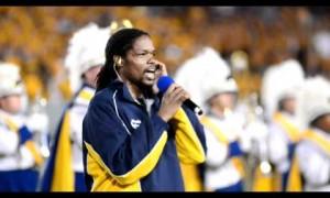 WVU vs LSY 2011 Landau Eugene Murphy Jr Sings National Anthem