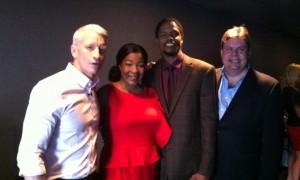 CNN's Anderson Cooper, Jennifer, Landau and Burke Allen