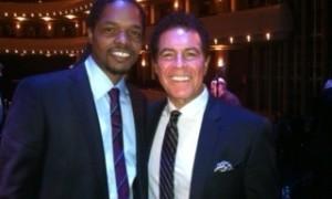 Landau in Las Vegas with legendary vocalist Clint Holmes