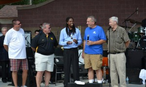 Landau receiving the key to city of Clarksburg,WV