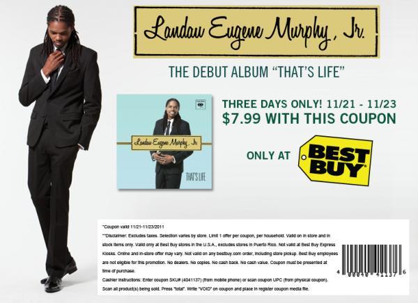 Landau Debut Album - That's Life Banner Ad