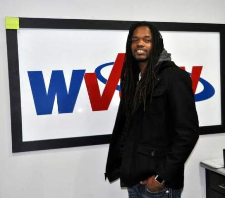 Kyle Lovern/WDNLandau Eugene Murphy, Jr. is pictured in the studios of WVOW radio after recording a public service announcement. Landau, a Logan native, will kick-off his nationwide tour in his hometown Dec. 5th.