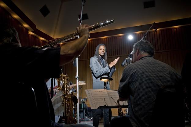 Album recording session